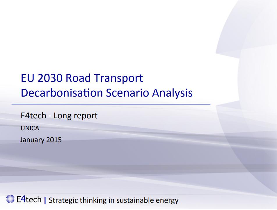 EU 2030 Road Transport Decarbonisation Scenario Analysis
