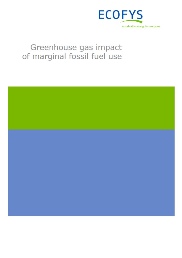 Greenhouse gas impact of marginal fossil fuel use